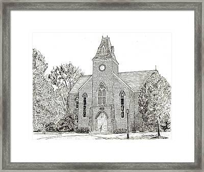 Randolph Macon Old Chapel Framed Print by John Hopson