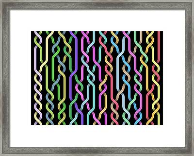 Random Braid 3 Framed Print by Dan Gries