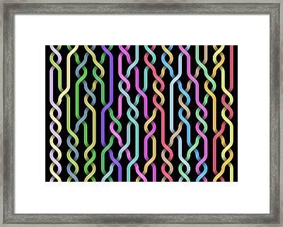 Random Braid 3 Framed Print