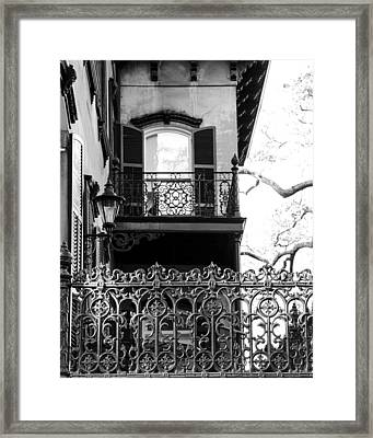 Random Porch.savannah Framed Print