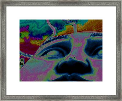 Random Thoughts Framed Print by Rebecca Flaig