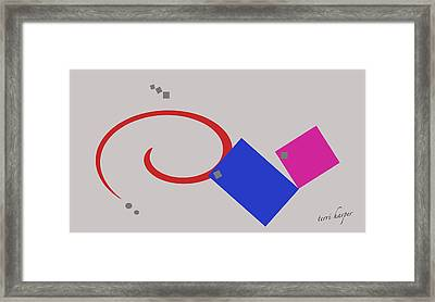 Framed Print featuring the photograph Randomness Variations 1 by Terri Harper
