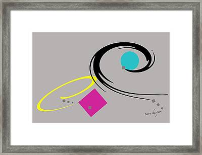Framed Print featuring the  Randomness Variations 2 by Terri Harper