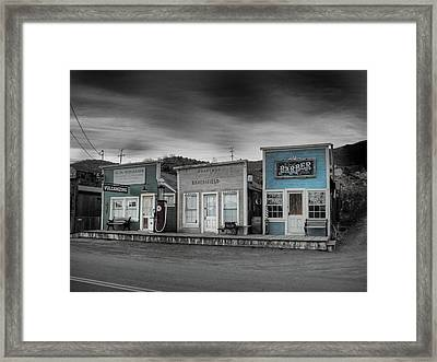 Randsburg Gas Station And Shops Framed Print