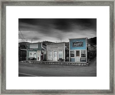 Randsburg Gas Station And Shops Framed Print