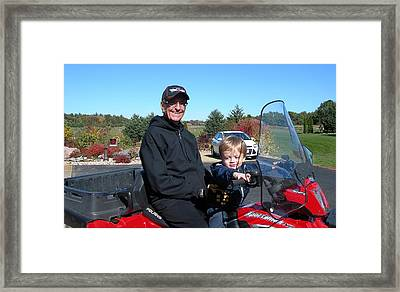 Randy And Jonah Framed Print by Carolyn Rosenberger