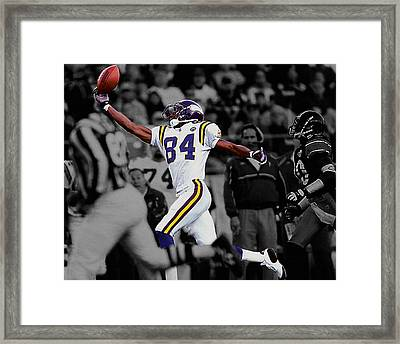 Randy Moss Framed Print by Brian Reaves