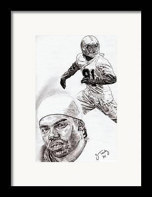 Randy Moss Drawings Framed Prints