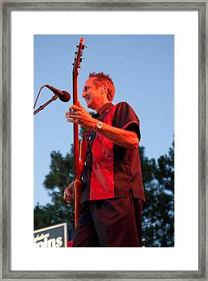Randy Reis On Bass - The Fabulous Kingpins Framed Print by David Patterson