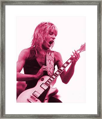 Randy Rhoads At Day On The Green In Oakland Ca Framed Print