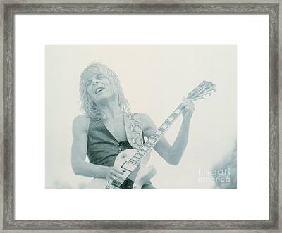 Randy Rhoads Day On The Green 7-4-81 Framed Print