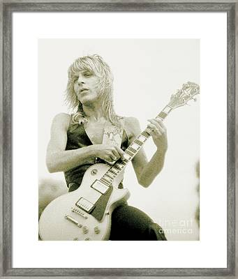 Randy Rhoads Day On The Green - Latest Unreleased One With Normal Sky Background Framed Print