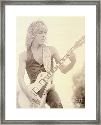 Randy Rhoads-day On The Green 7-4-81 Framed Print