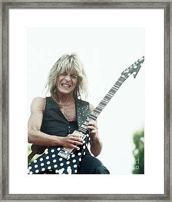 Randy Rhoads New Release At The Green In Oakland-july 4th 1981 Framed Print