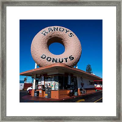 Randy's Donuts Framed Print by Stephen Stookey