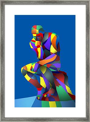 Randy's Rodin Blue Framed Print