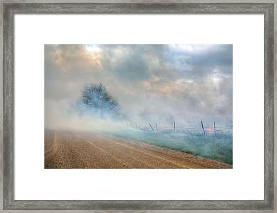 Range Burning Framed Print by JC Findley