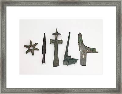 Range Of Global Bronze Age Weapons Framed Print by Paul D Stewart