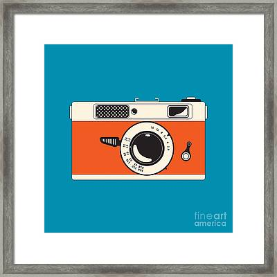 Rangefinder Film Camera Framed Print