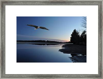Rangeline Lake Framed Print by RJ Martens