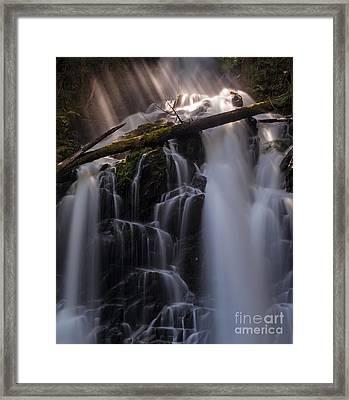 Ranger Falls Sunbeams Framed Print by Mike Reid
