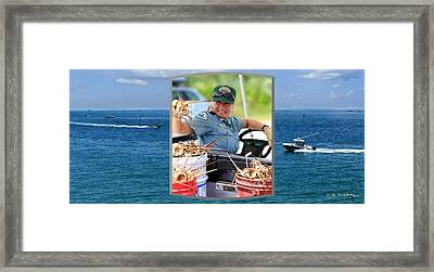 Framed Print featuring the photograph Ranger In Mini-lobster  Season by R B Harper
