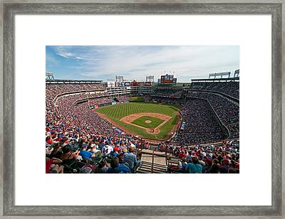 Rangers Ballpark In Arlington Framed Print
