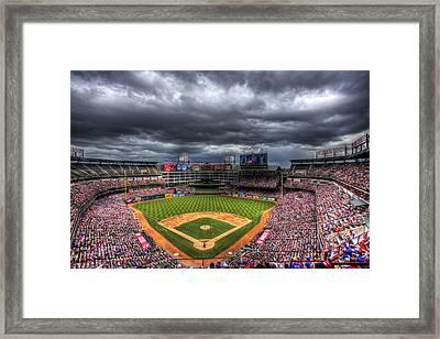 Rangers Ballpark In Arlington Framed Print by Shawn Everhart