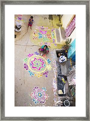 Rangoli Street Framed Print