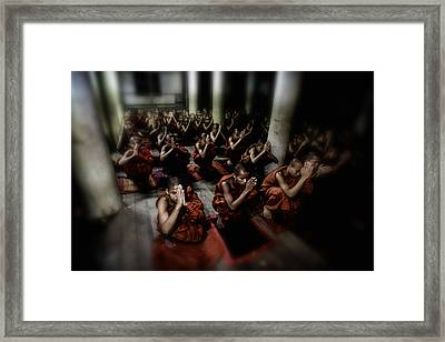 Rangoon Monks 2 Framed Print by David Longstreath