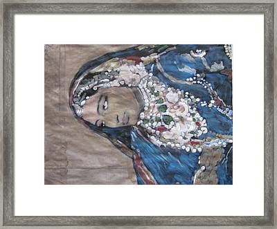 Framed Print featuring the painting Rani by Vikram Singh