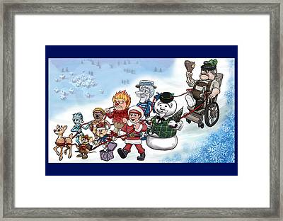 Rankin Bass Christmas Framed Print by Jennifer Hotai