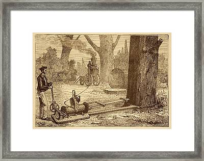 Ransome's Tree Felling Machine Framed Print by David Parker