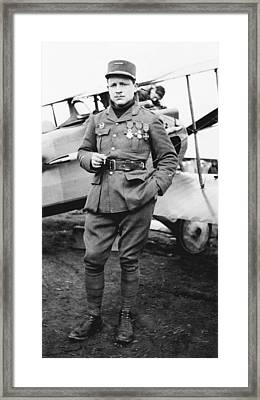 Raoul Lufbery, French World War I Pilot Framed Print by Science Photo Library