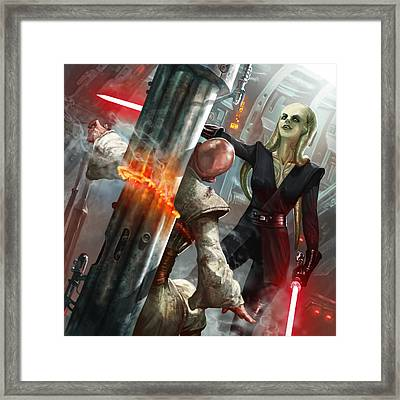 Rapacious Malice Framed Print by Ryan Barger