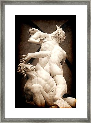 Rape Of The Sabines In Florence Framed Print