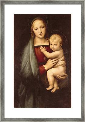 Raphael 1483-1520. Madonna Of The Grand Framed Print by Everett