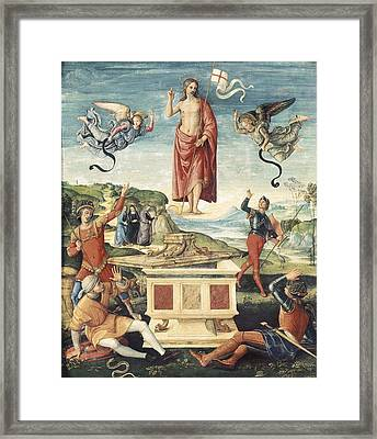 Raphael 1483-1520. Resurrection Framed Print by Everett