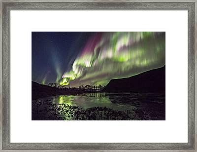 Rapid Auroras Framed Print