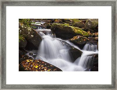 Rapids At Autumn Framed Print by Andrew Soundarajan