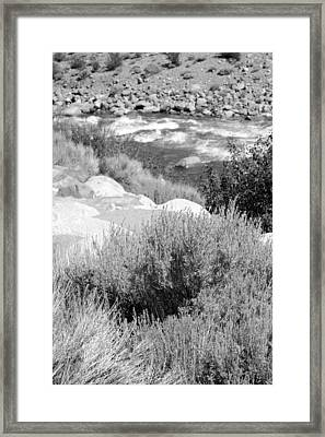 Rapids In White Mountains Framed Print
