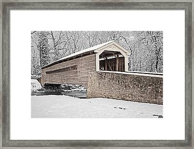 Rapps Bridge In Winter Framed Print