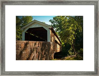 Rapps Covered Bridge Framed Print