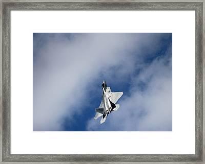 Raptor In The Clouds Framed Print