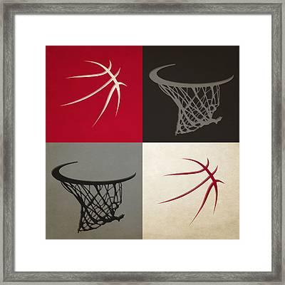 Raptors Ball And Hoop Framed Print by Joe Hamilton