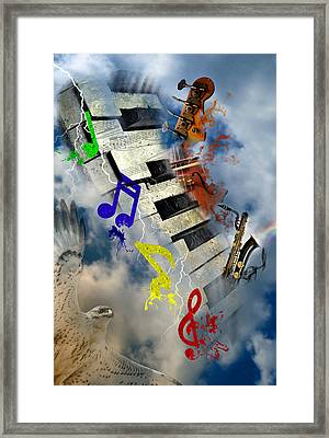 Rapture Celebration Framed Print
