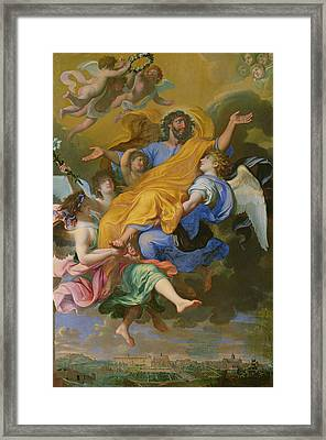 Rapture Of Saint Joseph Framed Print by French School