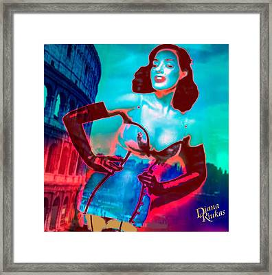 Rapturous In Rome Framed Print by Diana Riukas