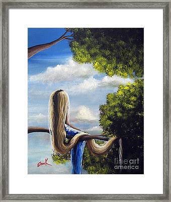 Rapunzel Original Artwork From My Acrylic Painting Framed Print by Shawna Erback
