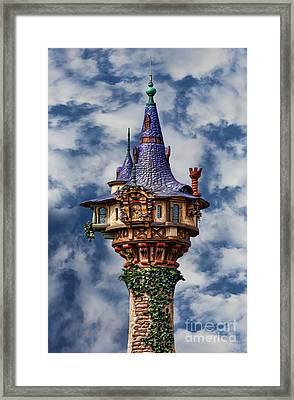Rapunzel's Tower Framed Print by Lee Dos Santos